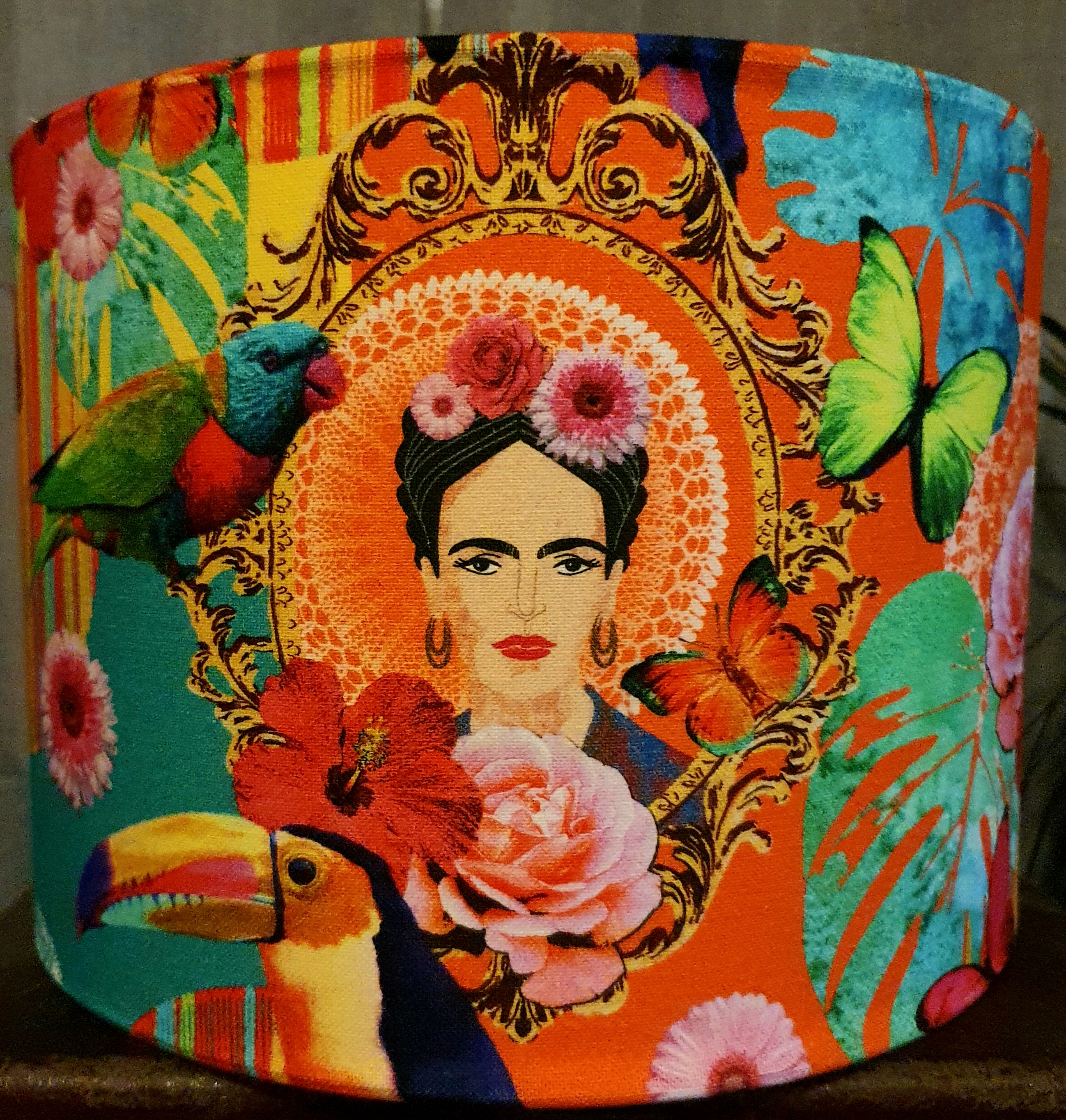 Frida Tropical (orange backing)