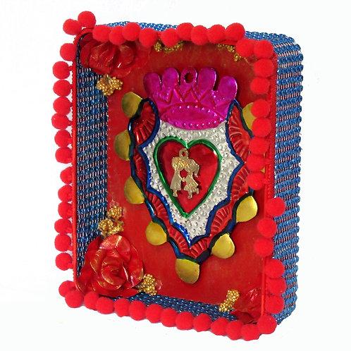 Sacred Heart Red Tin Box Art