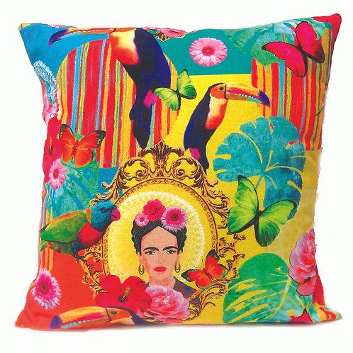 Frida Kahlo Tropical Cushion -Yellow tones