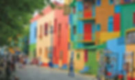 This is the colourful La Boca district of Buenos Aires Argentina