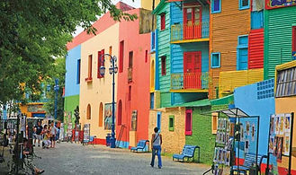 La Boca district in Buenos Aires Argentina