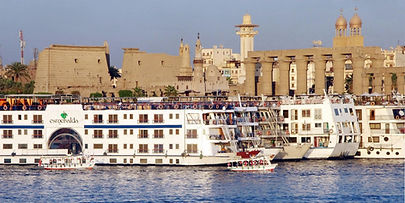 Luxor Temple and Cruise Boats, Egypt