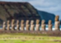 Easter Island Moaia