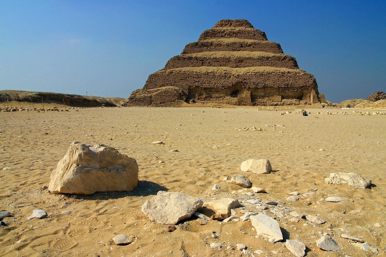 Step Pyramid at Saqqara, Egypt