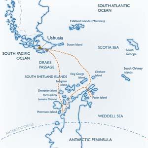 MV Ushuaia Classic Antarctica itinerary