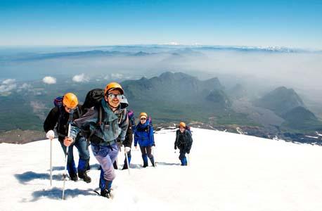 Hike up Villarrica Volcano
