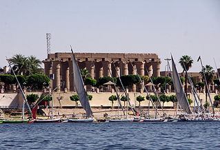 Nile Feluccas, Luxor, Egypt