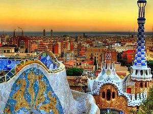 Barcelona Gaudi Sunset