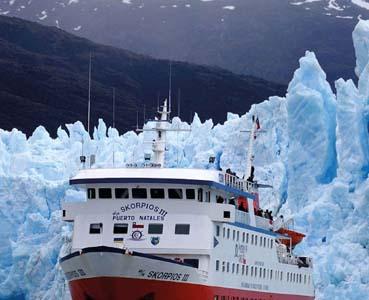 MV Skorpios III, Chilean ice fields