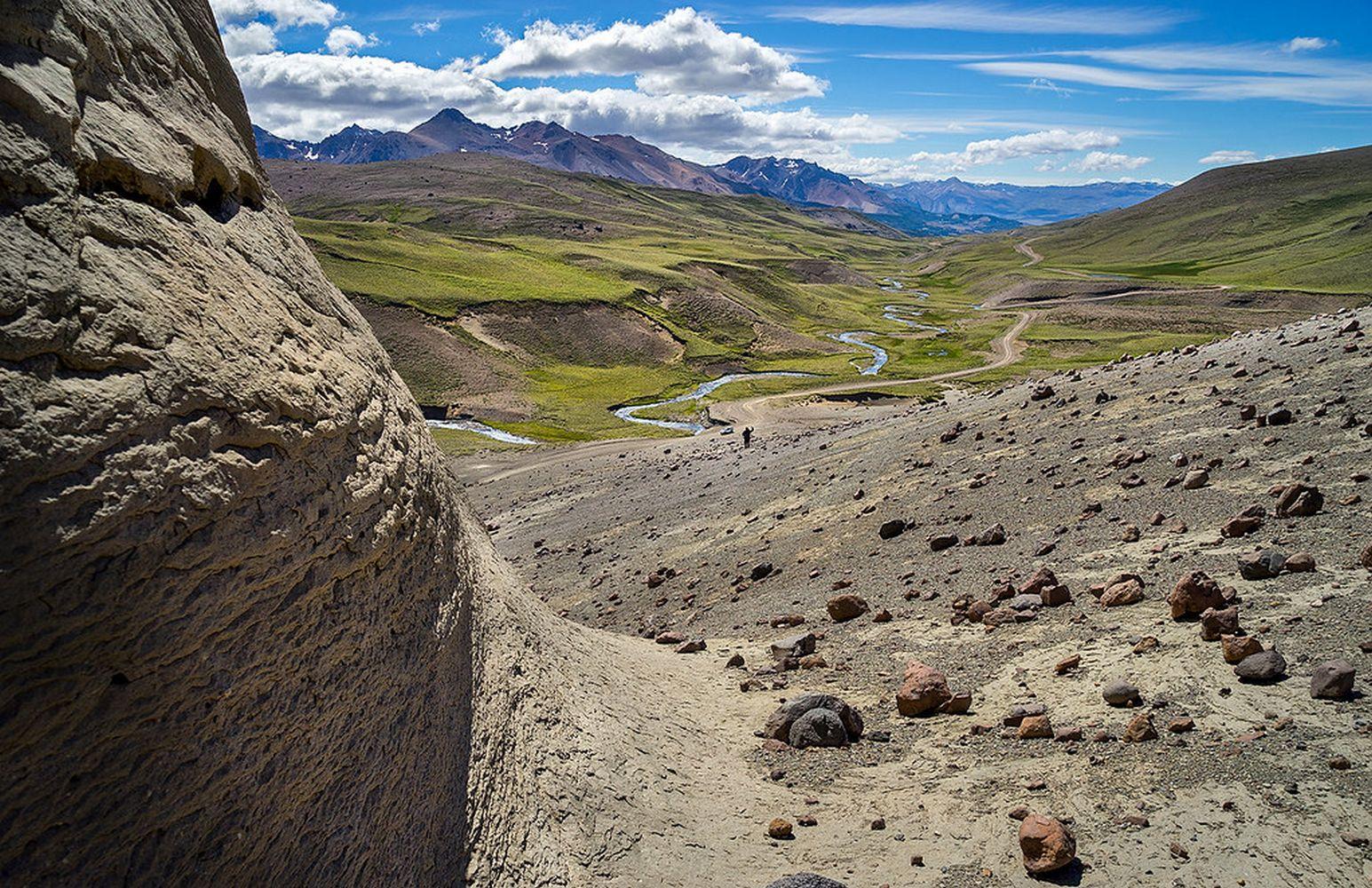 Road of Mount Zeballos, Patagonia