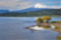 This is Villarrica Volcano on the shores of Lake Villarrica near Pucon Chile