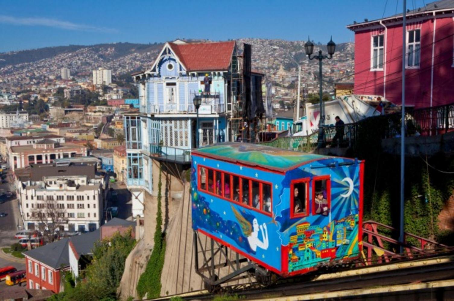 Valparaíso funicular, Chile