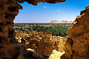 Siwa Oasis from Shali Fortress, Egypt