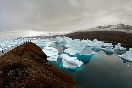 Røde Ø Icebergs Scoresby Sound Greenland