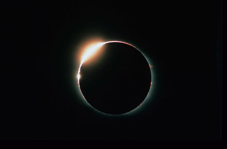 Total Solar Eclipse, Diamond Ring and Prominences