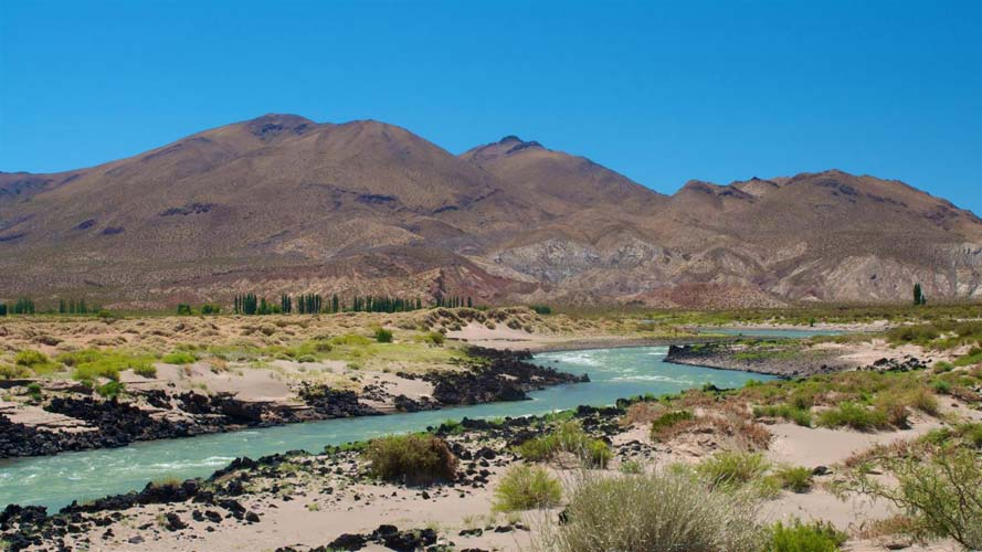 Limay River Valley outside Neuquen Argentina