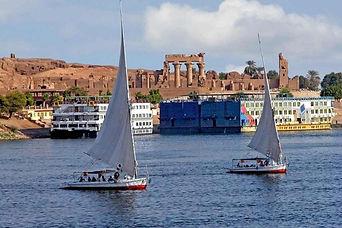 Nile Cruise Boats moored at Kom Ombo