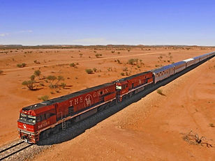 The Ghan train, Australia - 2023 solar eclipse tour