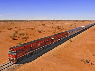 The Ghan train, Australia