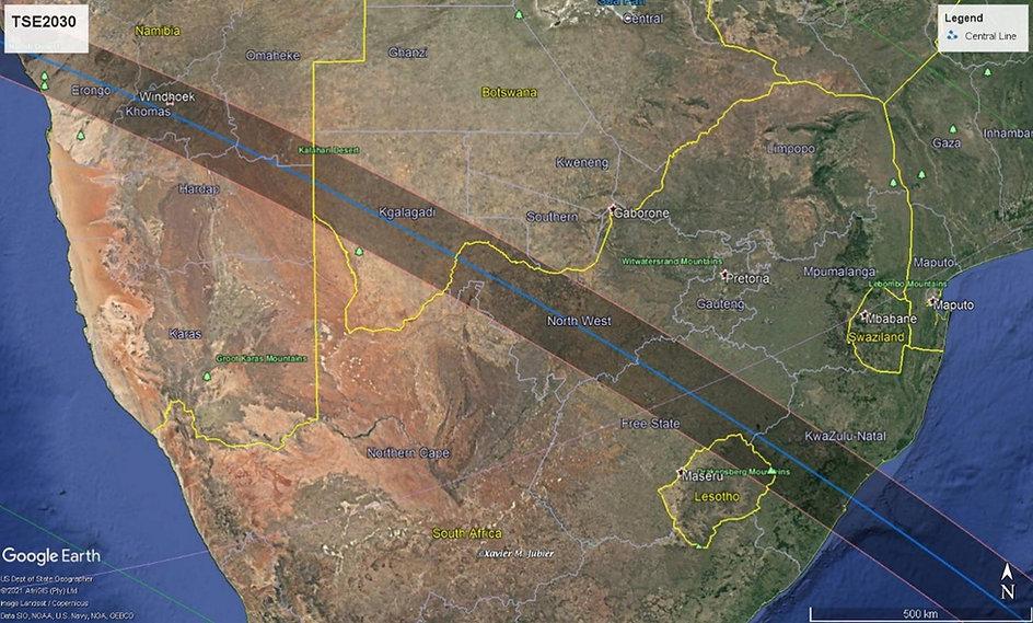 TSE2030 Track Map Africa