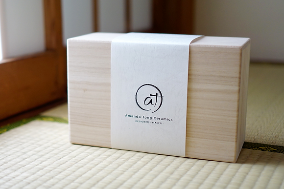 Wooden box gift packing