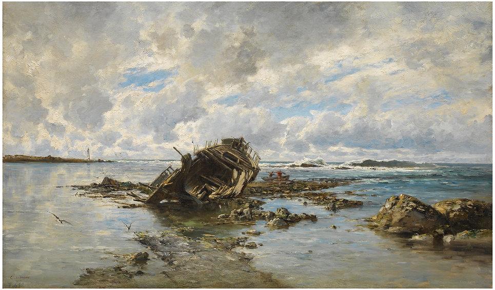 03.Un barco naufragado.Carlos de Haes.Mu