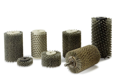 Rotary Brushes - With or Without Shaft - Distressing