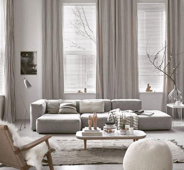 Maison Courtieu Salon Canapé Méridienne Gris Clair Blanc