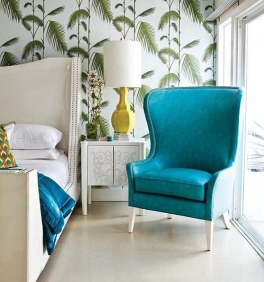 Maison Courtieu Fauteuil Bleu Classique Refection Fabriqué en France