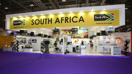 Shrike at DSEI Exhibition on the SA Pavilion - Hall N3