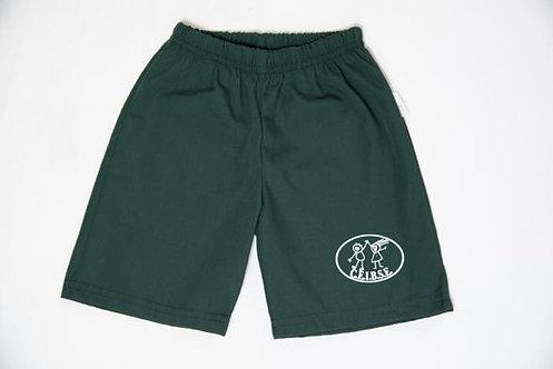 Short / Short-pollera color verde inglés con logo