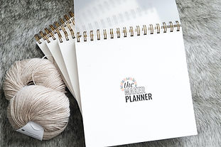 The Maker Planner crochet and knit planner journal tracker for designers pattern testers and makers