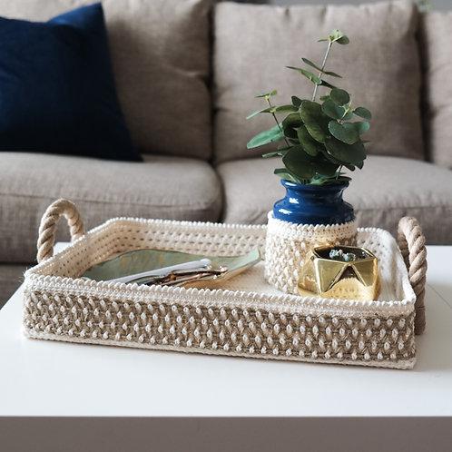 Decorative Basket Tray & Vase Cozy Set