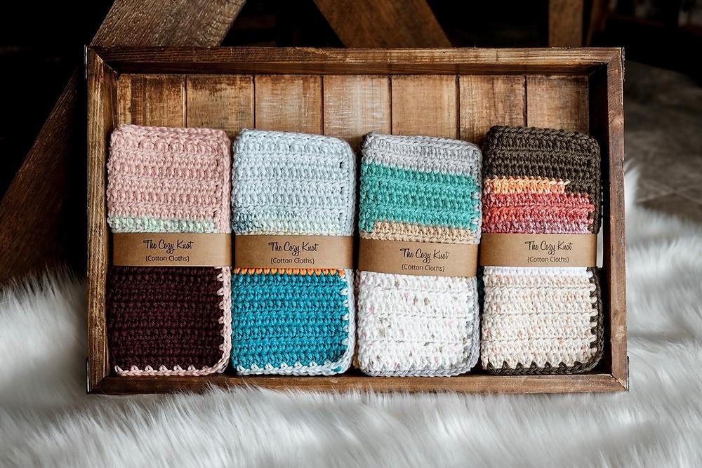 Free simple crochet cotton washcloth/towel pattern
