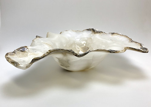 Natural Ivory Raw Edged Onyx Bowl