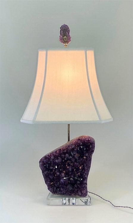 Natural Amethyst Lamp