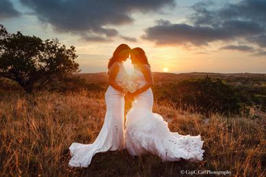 Brides at Sunset