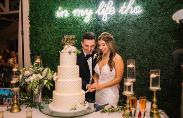 Greenery Wall Cake Table