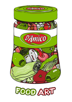 ART FOOD T-SHIRT D'AMICO