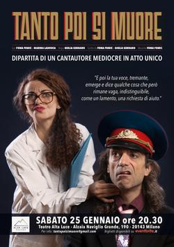 Manifesto TANTO POI SI MUORE