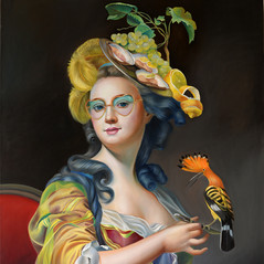 Lady with a hoopoe