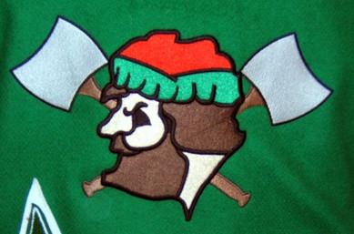 Custom Embroidered Logger Mascot