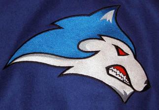 Custom Embroidered Husky Mascot