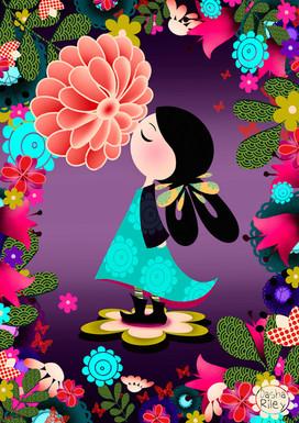Girl in Japanese Garden