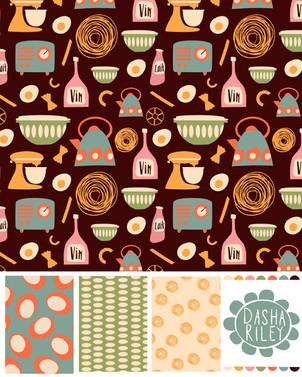 Pyrex & Pasta Bolt Fabric