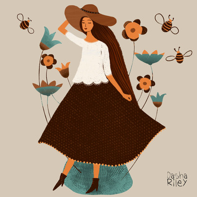 Girl with Bee