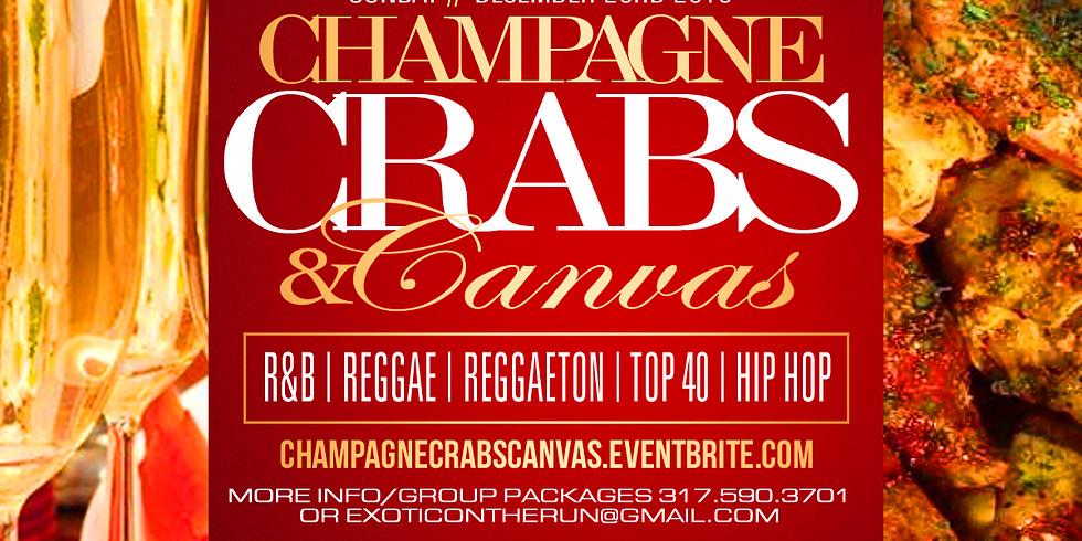 Champagne, Crab Legs, & Canvas