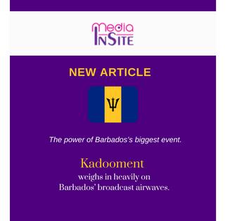 Kadooment weighs in heavily on Barbados' broadcast airwaves.