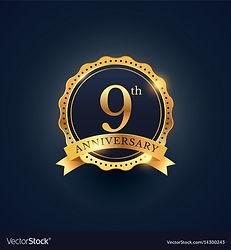 9th-anniversary-celebration-badge-label-
