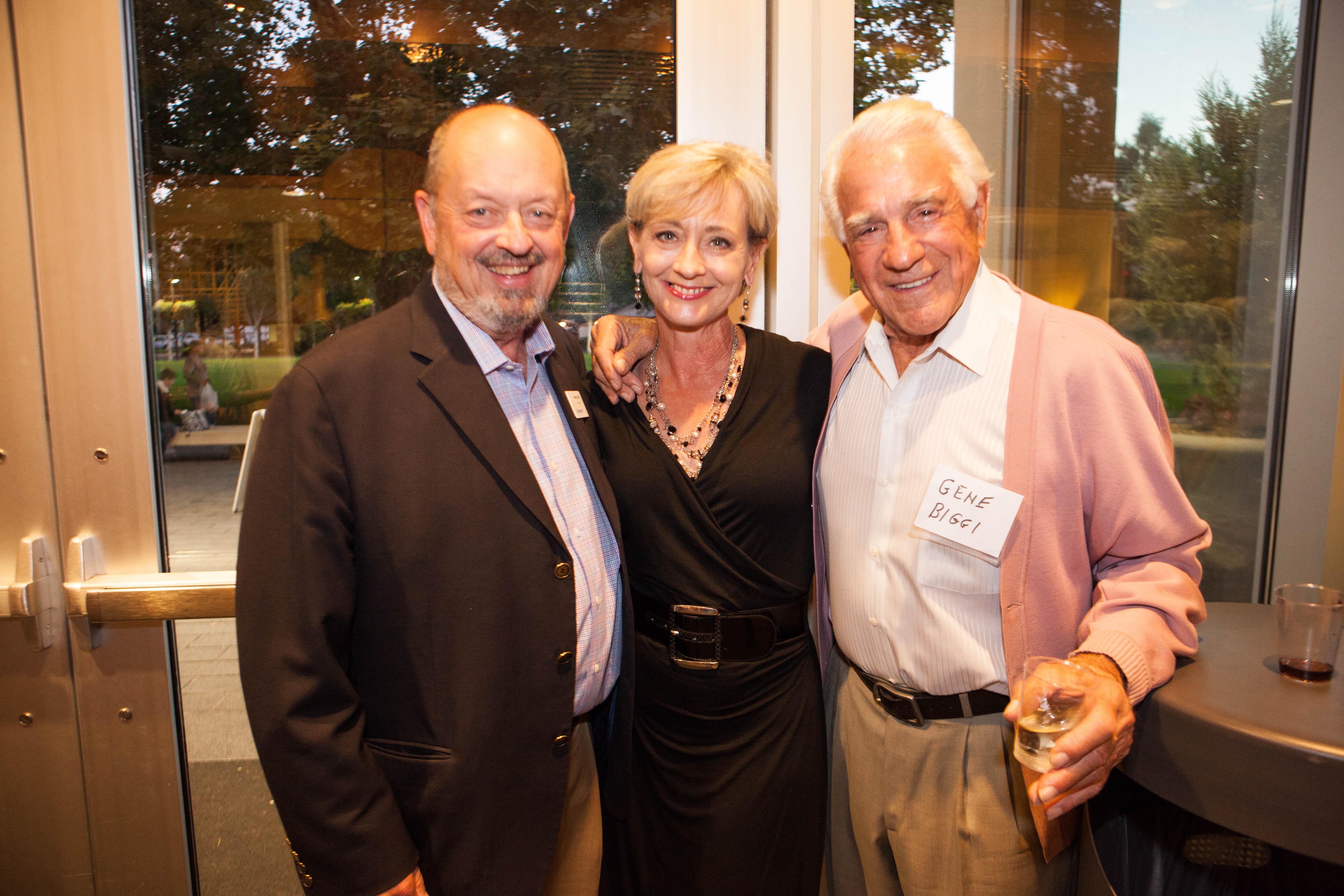 Mayor Denny Doyle & Gino Biggi, Beaverton Foods, Oct. 2014 Fundraising on a Mission Clarinda Hanson